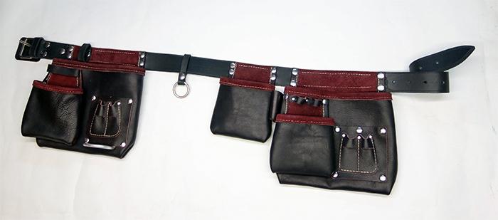 ceinture porte outils 5 poches ceintures en cuir cuirs de schistes france. Black Bedroom Furniture Sets. Home Design Ideas